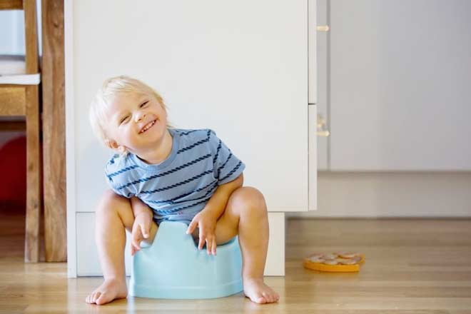How do I train my baby to sit on the potty