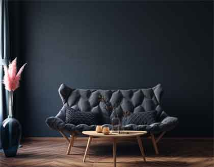 Balance the black by using black accents